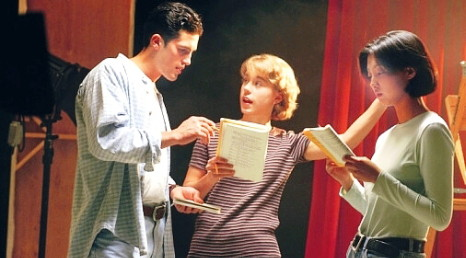 Three rehearse for school musical
